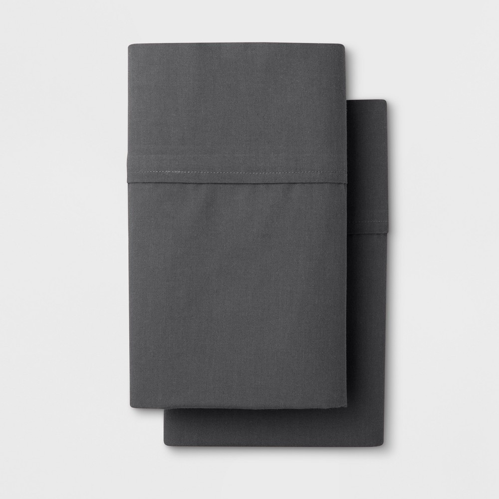 Solid Easy Care Pillowcase Set (King) Dark Gray - Made By Design