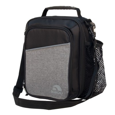 Igloo 10 Can Balance Vertical Lunch Cooler Bag - Black/Gray