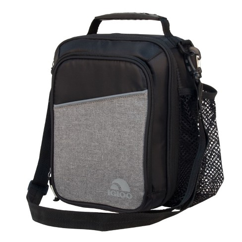 Igloo 10 Can Balance Vertical Lunch Cooler Bag - Black/Gray - image 1 of 10