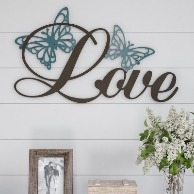 Metal Cutout- Love Decorative Wall Sign-3D Word Art Home Accent Decor-Perfect for Modern Rustic or Vintage Farmhouse Style by Hastings Home