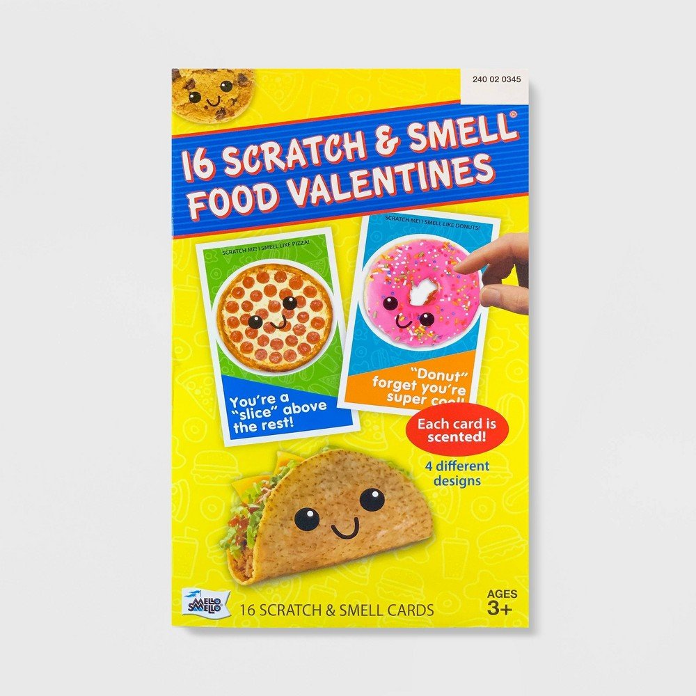 Image of 16ct Valentines Foodie Character Scratch And Smell Kit