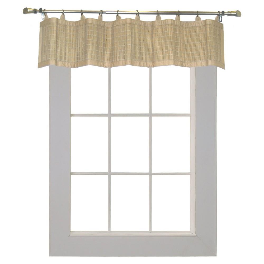 Window Valance Versailles Home Fash Driftwood (Brown)
