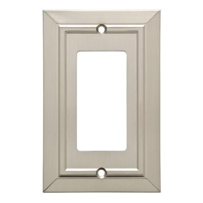 Franklin Brass Classic Architecture Single Decorator Wall Plate Nickel