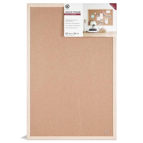 """Ubrands 23"""" x 35"""" Wood Frame Bulletin Board - image 1 of 4"""
