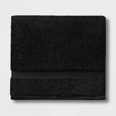 Soft Solid Bath Towel Black - Opalhouse™