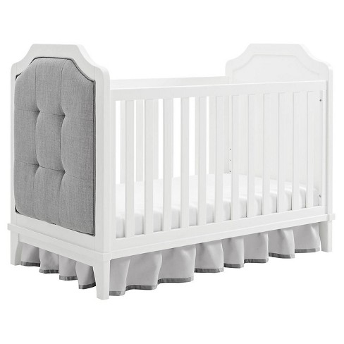 Baby Relax Luna 3 In 1 Upholstered Crib White