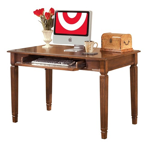 Hamlyn Home Office Small Leg Desk Medium Brown Signature Design By Ashley