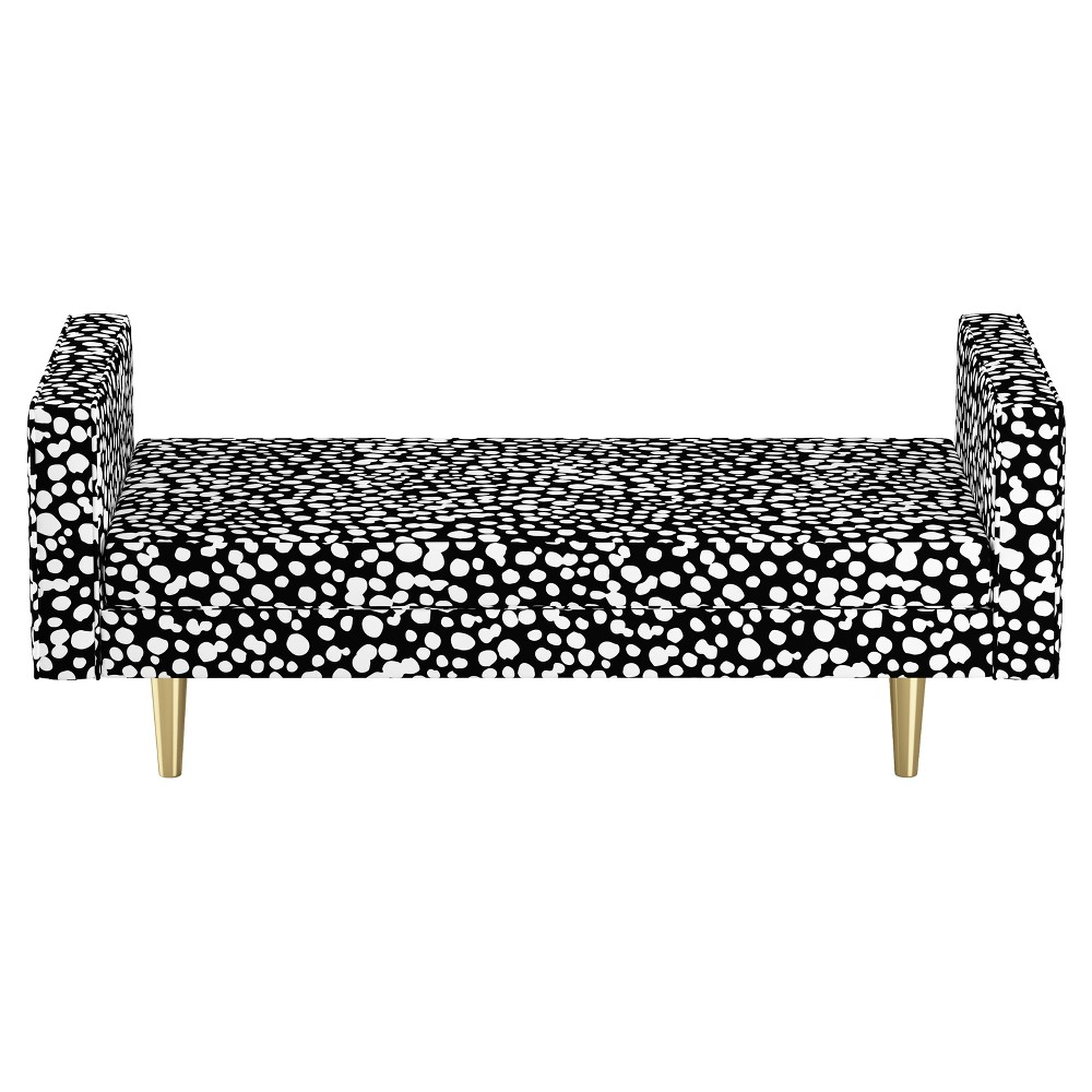 Queen Welted Daybed - Dancing Dots Black - Oh Joy