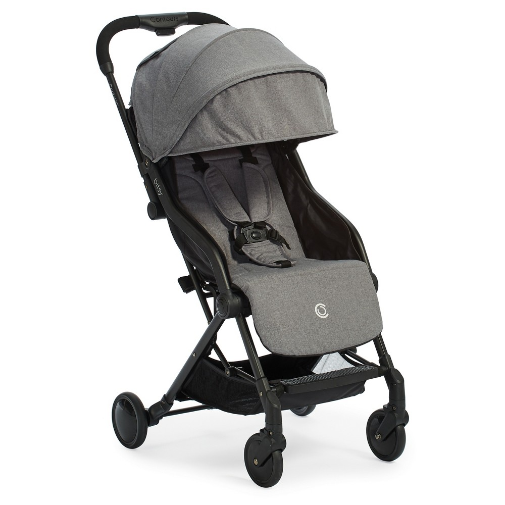 Image of Contours Bitsy Compact Fold Stroller - Gray