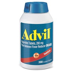 Advil Pain Reliever/Fever Reducer Tablets - Ibuprofen (NSAID) - 300ct