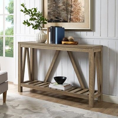 A Frame Rustic Entry Console Table - Saracina Home : Target