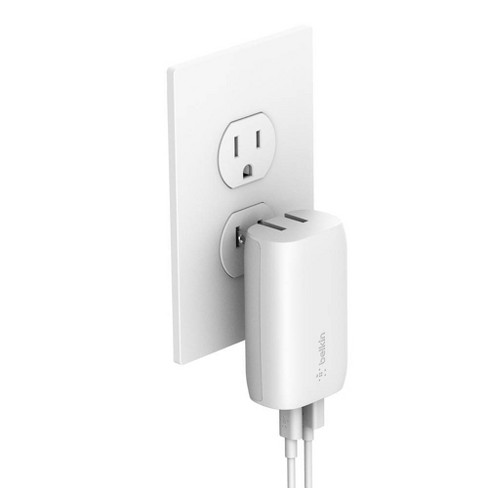 Belkin 2-Port 18W USB-C & 12W USB-A Wall Charger (with 4' Lightning to USB-C Cable) - White - image 1 of 4