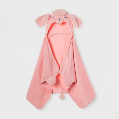 Poodle Hooded Bath Towel Daydream Pink - Pillowfort™