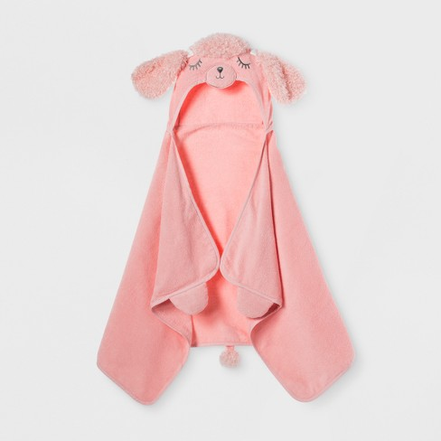 Poodle Hooded Bath Towel Daydream Pink - Pillowfort™ - image 1 of 2