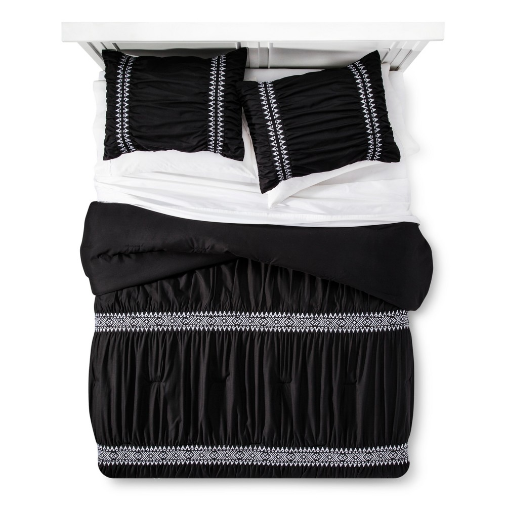 Black Embroidered Comforter Set (Twin/ Twin XL) - Xhilaration
