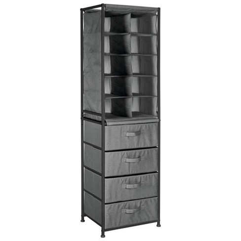 mDesign Vertical Dresser Storage Tower with 4 Drawers - image 1 of 4