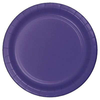 "Purple 9"" Paper Plates - 24ct"