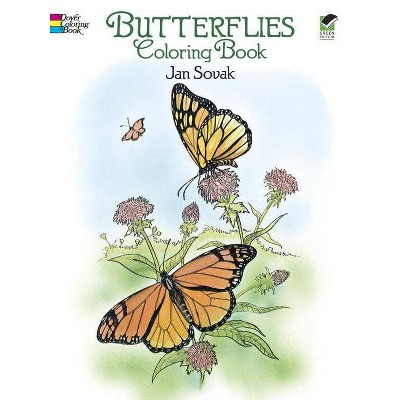 Butterflies Coloring Book - (Dover Nature Coloring Book) by  Jan Sovak (Paperback)