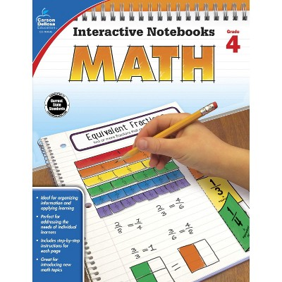 Carson Dellosa Math Interactive Notebook, Grade 4