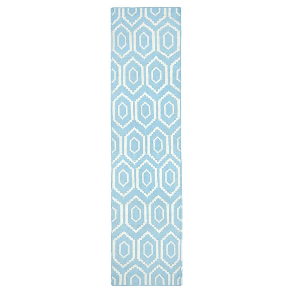 Taza Dhurry Rug - Blue/Ivory - (2'6x8') - Safavieh