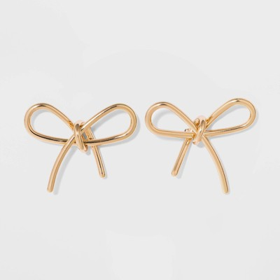 Sugarfix By Bauble Bar Gold Bow Earrings   Gold by Sugarfix By Bauble Bar