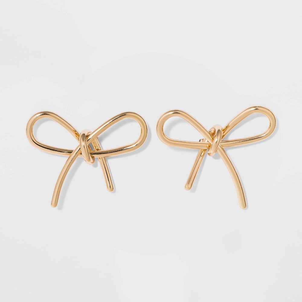 Sugarfix By Baublebar Gold Bow Earrings Gold