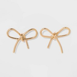 SUGARFIX by BaubleBar Gold Bow Earrings - Gold