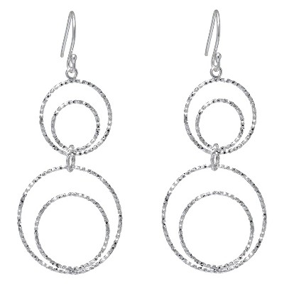 silver plated brass linked diamond cut circles drop earrings target Opal and Diamond Earrings about this item