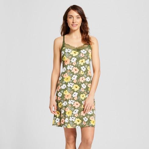 ae9f90b6833 Women's Floral Print Nursing Nightgown - Gilligan & : Target