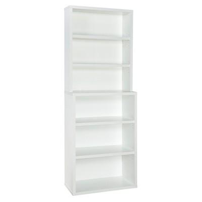 """82.3"""" 6 Shelf Hutch Bookshelf White - ClosetMaid"""