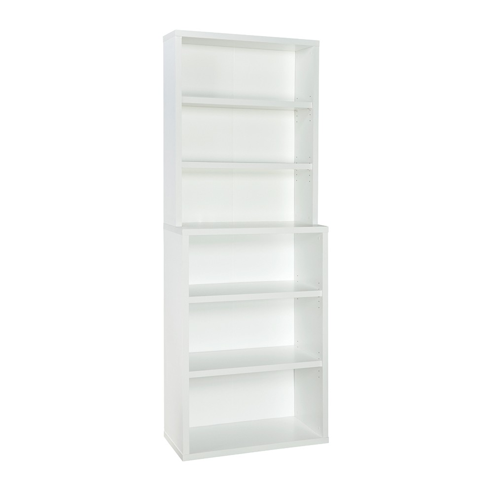 "Image of ""82.3"""" 6 Shelf Hutch Bookcase White - ClosetMaid"""