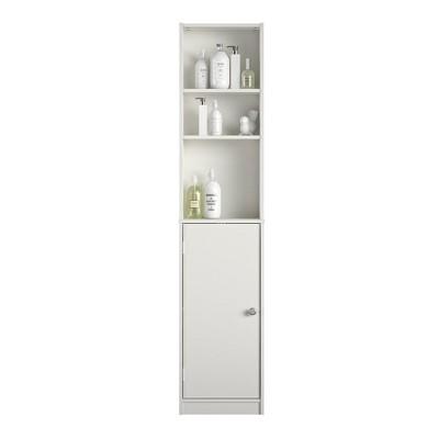 RealRooms Basin Linen Tower, Bathroom Storage Furniture, White : Target