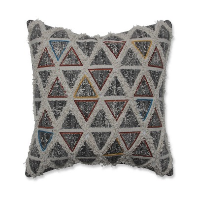 Standpoint Embroidered Square Throw Pillow Graphite - Pillow Perfect