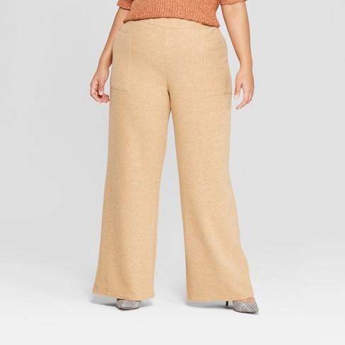 8f46c74f7614 Women s Plus Size Cozy Wide Leg Pants - Who What Wear™   Target