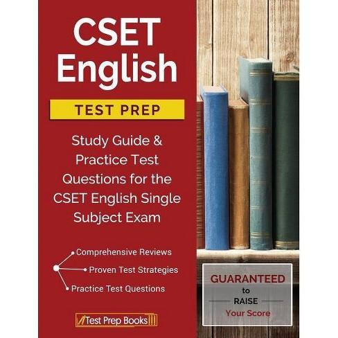 CSET English Test Prep - by Cset English Study Book Prep Team (Paperback)
