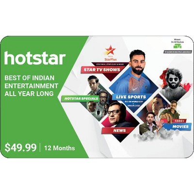 Hotstar Gift Card $49.99 (Email Delivery)