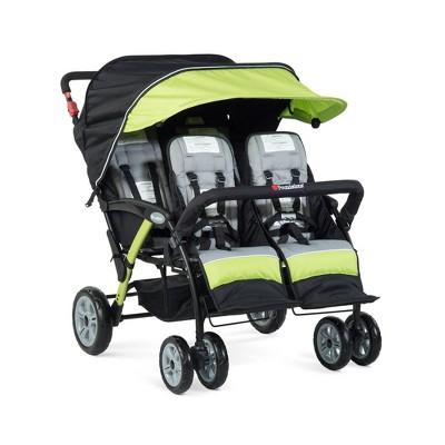 Foundations Quad Sport 4 Passenger Stroller - Lime
