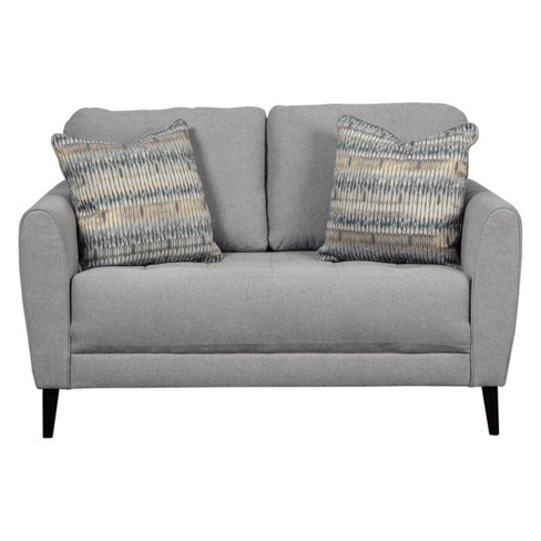 Cardello Loveseat Steel Gray - Signature Design by Ashley - image 1 of 4