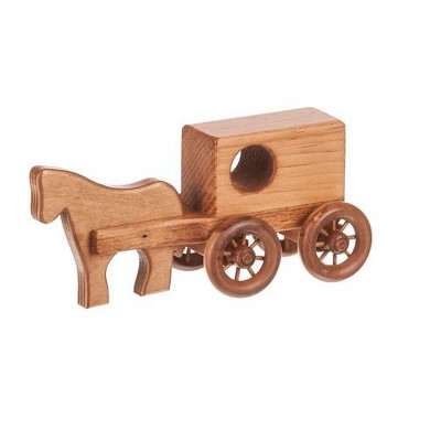 Remley Kids Wooden Horse and Buggy