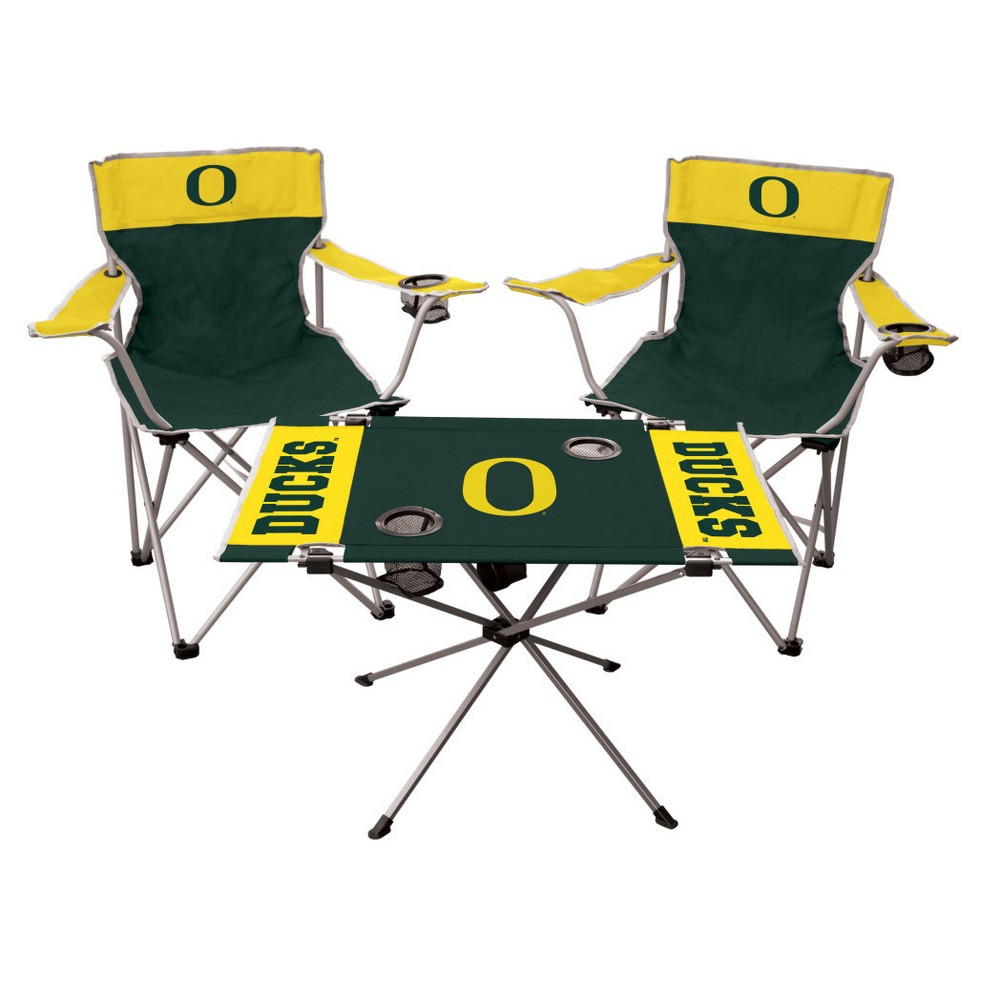 NCAA Rawlings Tailgate Kit - 2 Chairs and Endzone Table Oregon Ducks