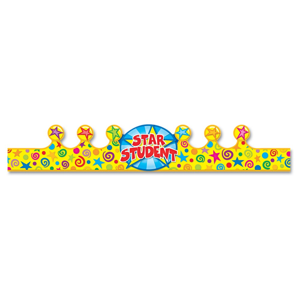 Image of Carson-Dellosa Publishing Student Crown, Birthday, 4 x 23 1/2, 30/Pack