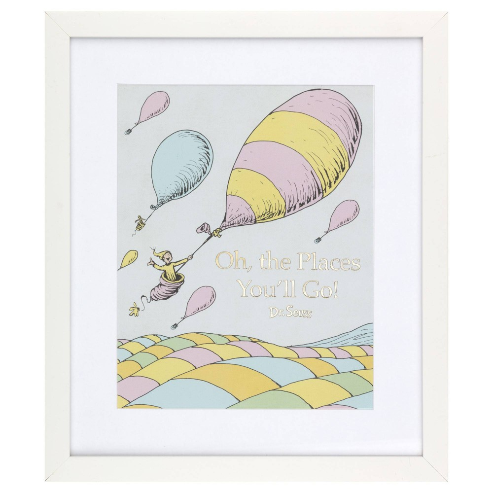 """Image of """"12""""""""x14"""""""" Dr. Seuss Oh The Places You'll Go Framed Print Wall Art"""""""