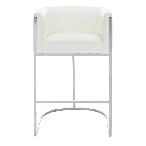 Excellent Shiloh Leather Bar Stool White Safavieh Lamtechconsult Wood Chair Design Ideas Lamtechconsultcom