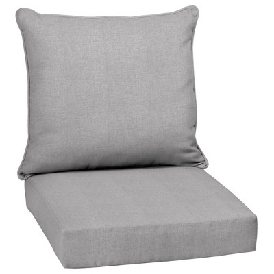 Paloma Woven Outdoor Cushion Set Gray - Arden Selections