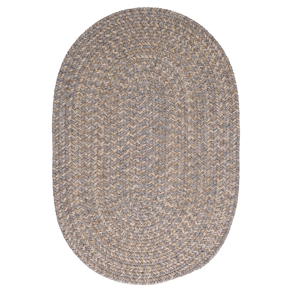 Tremont Braided Area Rug - Gray - (8'x11') - Colonial Mills
