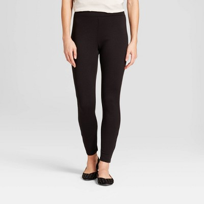 Women's High Waist Ponte Leggings - A New Day™ Black