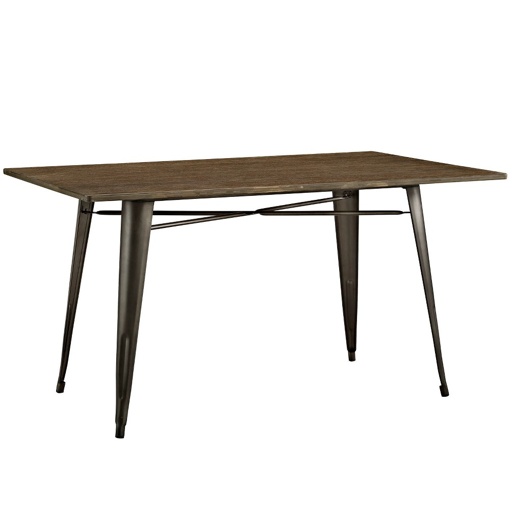 Alacrity 59 Rectangle Wood Dining Table Brown - Modway