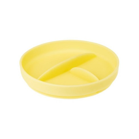 Olababy Silicone Divided Suction Plate - Lemon - image 1 of 3
