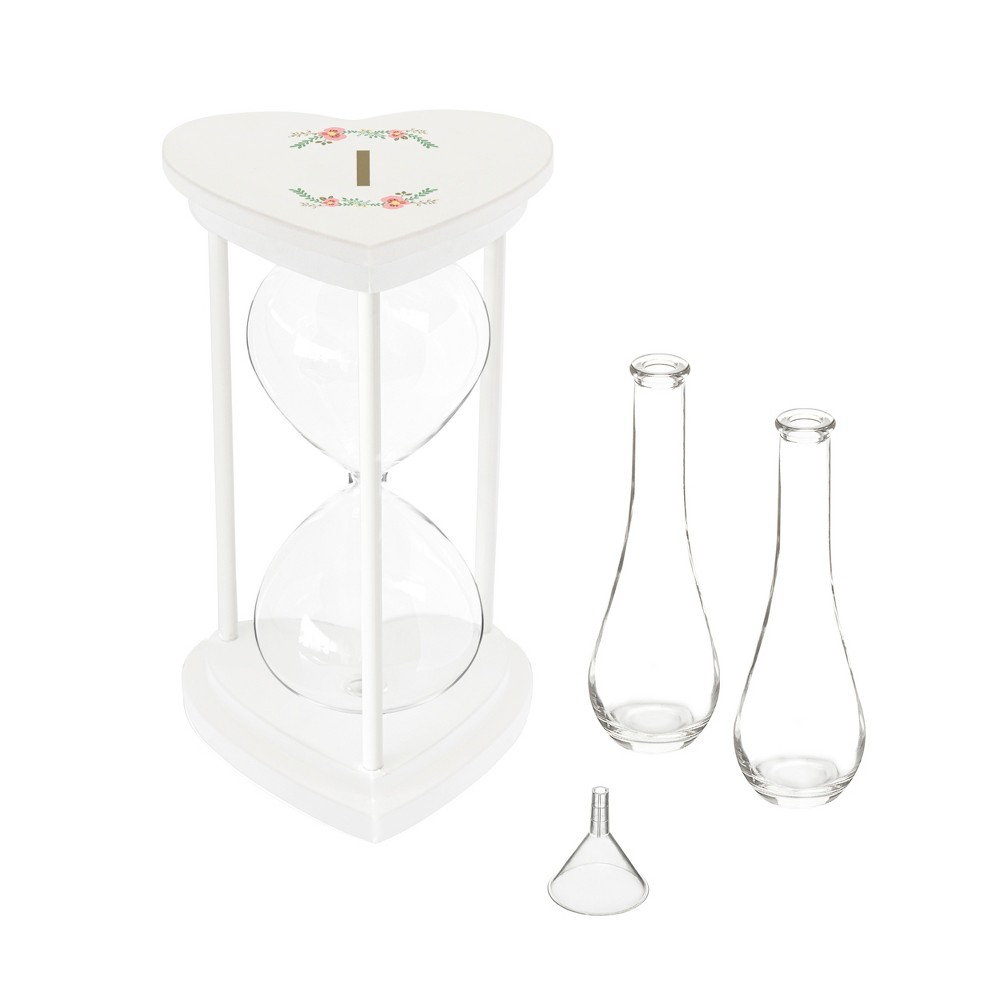 Image of Cathy's Concepts Sand Hourglass - I, White Clear