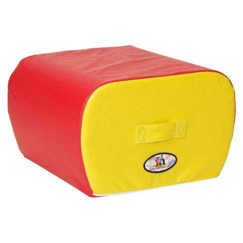 foamnasium™ Cloud Ottoman Play Furniture - Red/ Yellow - image 1 of 1